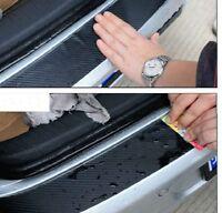 Car Rear Bumper Protector Guard Trim Cover Sill 1pc Carbon Fiber Protect Sticker