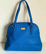 NEW! TOMMY HILFIGER BLUE DOME BOWLER SATCHEL TOTE PURSE BAG $89 SALE
