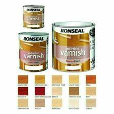 Ronseal Diamond Hard Interior Varnish ALL COLOURS & SIZES