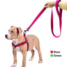 Reflective No-Pull Nylon Dog Harness & Leash set Mesh Padded Front Leading Vest