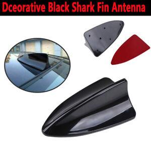 Car Roof Shark Fin Antenna W/Adhesive Universal Decorative Black Fits Audi BMW