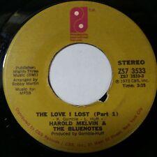 "HAROLD MELVIN & BLUENOTES The Love I Lost Pt1 b/w Pt 2 ZS73533 7"" 45rpm Vinyl VG"