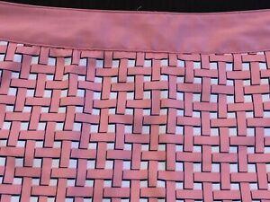 Greg Norman Pink White Basket Weave Print Golf Skirt Skort Women's Size 6