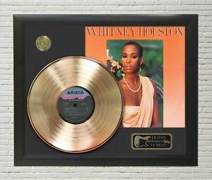 Whitney Houston Framed Legends Of Music Gold LP Record Display
