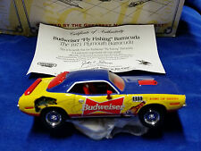 DYM37599 - 1995 MATCHBOX 1/43 - 1971 Plymouth Fly Fishing Barracuda Budweiser