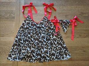 Victoria's Secret Animal Ribbon Strap Small Babydoll Nightie Dress Sleep VS PJ