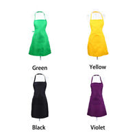 Kitchen Apron Front Pocket Cooking Baking Apron Waiter/Waitress Pure Color Apron