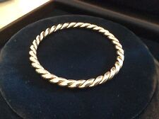 NEW Tiffany & Co. Sterling Silver Twist Rope Bangle Bracelet SOLID STERLING