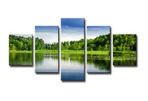 Quadro su tela Quadri moderni art natura 160 x 80 cm 5 tele modello : XXL 5565