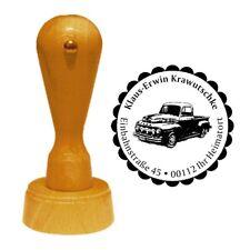 Stempel « AMERIKANISCHER PICKUP » Adressenstempel Motiv Name Amerika Auto USA
