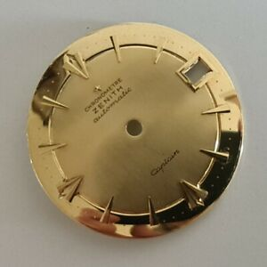 ZENITH Swiss Vintage Dial Zifferblatt 30,4mm aus Gold750(18K) Date ORIGINAL