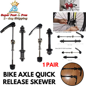 Yuauy Bicycle Quick Release Skewers Axle Front and Rear Skewers Steel for Mountain Bike Road Bike
