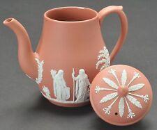 Wedgwood Terracotta Coffee Pot Jasperware Made in England
