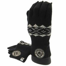 Manchester City F.C. Knitted Gloves Adult Fairisle Gift