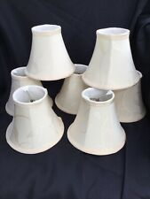 "Urbanest Cream Chandelier Mini Lamp Shades Set of 7, Soft Bell 3""x6""x5"" Clip on"