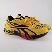 NEW Reebok Futsol Fusion Men's Running Shoes Size 10.5 (FV9289) Yellow/Black