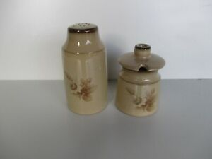 Denby Memories Pepper Pot and Mustard Pot Excellent Condition