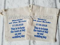 Mother of the bride groom wedding tears bag for tissues hanky gift