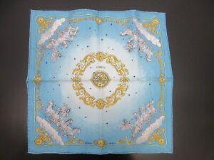 Authentic Excellent HERMES Petit Scarf COSMOS 100% Silk Blue Box 94983 B