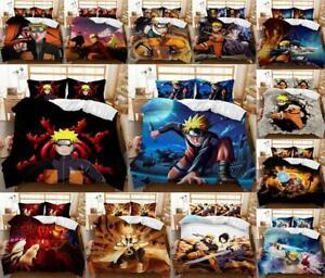 NARUTO Boys Quilt Duvet Cover Pillowcase Boy Bedding Set Single Double King Size