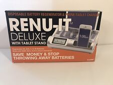 Renu-It Deluxe Disposable Battery Regenerator Phone Tablet Charger New Open Box