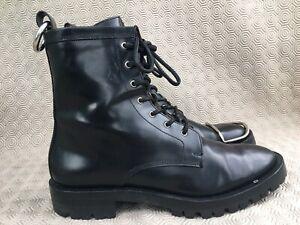Alexander wang Lyndon Leather Combat Boots Size EU 40