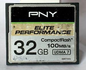 PNY Elite Performance 32GB compact flash card.