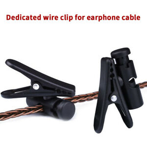 Headphone Earphone Cable Wire Cord Clip Nip Clamp Collar Lapel Shirt HolderBXUK