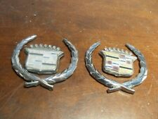 PAIR Oem 1980s-1990s Cadillac Roof Panel Emblem & Wreath GM