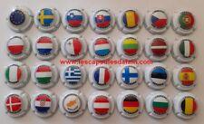 28 BELLES CAPSULES CHAMPAGNE GENERIQUE DRAPEAUX UNION EUROPEEN NEWS