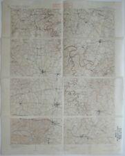 Original 1905 USGS Topo Map HARRODSBURG Kentucky Danville Stanford Lancaster L&N