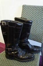 Vintage LEWIS LEATHERS MOTORCYCLE BOOTS Westway W10 taille 9 made in England