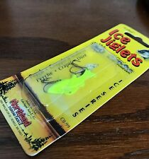 """Northland """"Lethal"""" Chartreuse Hot Super-Glo 1-1/4 inch Ice Jiglets"""