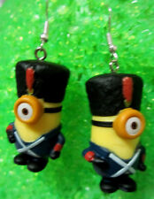 Christmas VIVE LE MINIONS NEW MOVIE Earrings 925 HOOKS Handcrafted USA Nora's