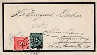 Briefumschlag Alliierte Besetzung verschickt von Dresden nach München 1947