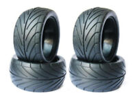 RC 1/10 Buggy Rear Rubber Tires OD:83mm W/Foam Inserts 4Pcs For Rc Off Road Car