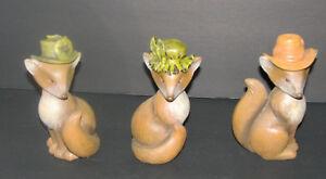 Jozie B Foxy Ladies Resin Fox Figurines Set of 3 Lillian, Margaret, Penelope NEW