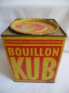 ancienne boîte tôle bouillon Kub déco rétro vintage box metal broth pub epicerie