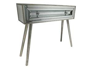Mirrored Console Dressing Table Desk Venetian Retro Glass Furniture 1 Drawer