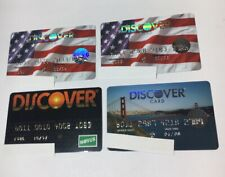 4 Expired Credit Cards For Collectors -  Discover Card Lot (7106)