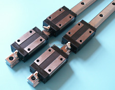 """20-915mm/36"""" inch Linear Guideway Rail 4x Square type carriage bearing block CNC"""