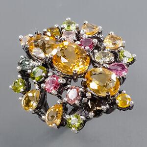 Fine Art Design Citrine Ring Silver 925 Sterling  Size 8 /R171611