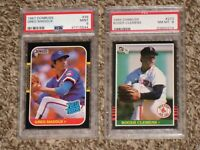 Roger Clemens 1985 + Greg Maddux 1987 Donruss RC #273  #36 PSA 8 9 MINT HOF Lot