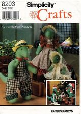 """Simplicity Decorative Dinosaur and Clothes Pattern 8203 Size 10"""" and 15"""" UNCUT"""