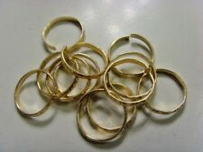 12 vintage gold tone metal adjustable gypsy toe rings lot belly dance ats 46977a