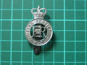 War Department Fire Service QC Cap Badge.
