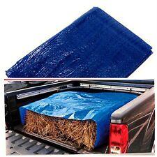 Blue Plastic Tarpaulin Tarps Multi Purpose Water Resistant All Weather 4 X 6 Ft