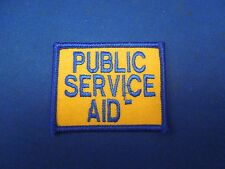 Vintage Public Service Aid Uniform Badge Embroidered Iron On Patch Blue Yellow
