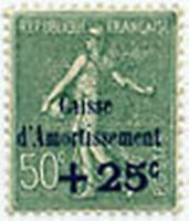 "FRANCE STAMP TIMBRE 247 "" SEMEUSE CAISSE D'AMORTISSEMENT 25c S.50c"" NEUF xx LUXE"
