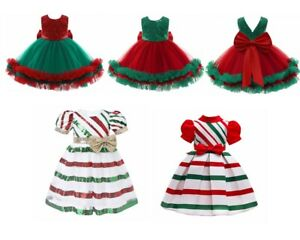Kids GirlsPrincess Dress Shiny Sequins Christmas Mesh Costume with Big Bowknot